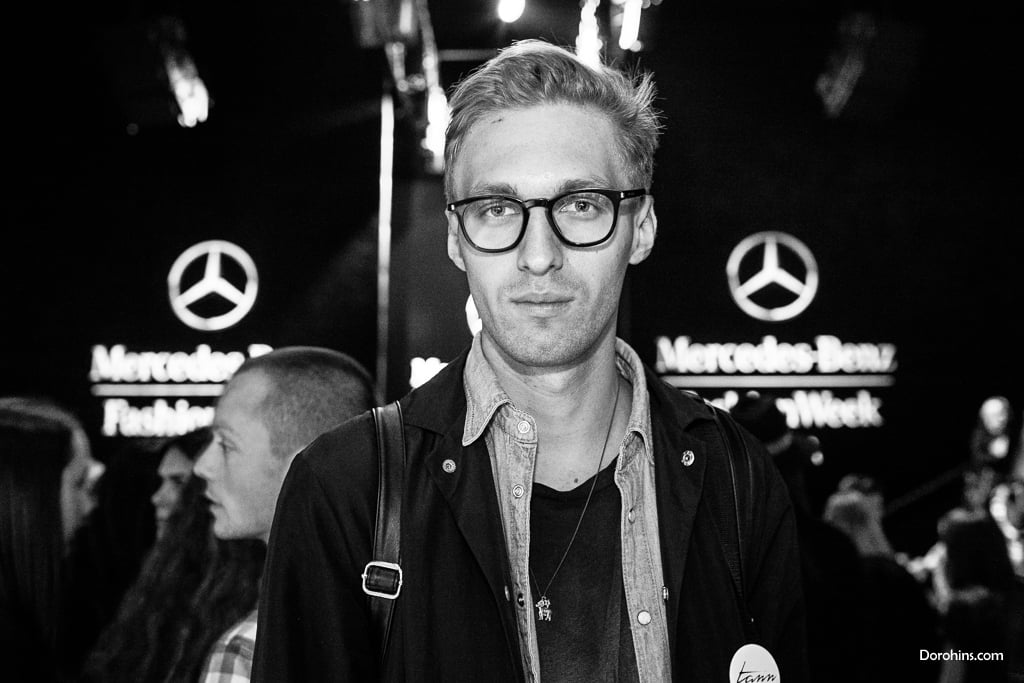 Глеб Герман_Mercedes-Benz Fashion Week Russia_гости 3 день_Яся Миночкина, гости показа Миночкина_показ