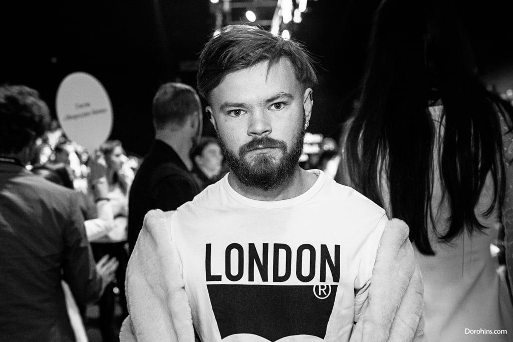 Игорь Андреев _Mercedes-Benz Fashion Week Russia_гости 3 день_Яся Миночкина, гости показа Миночкина_показ