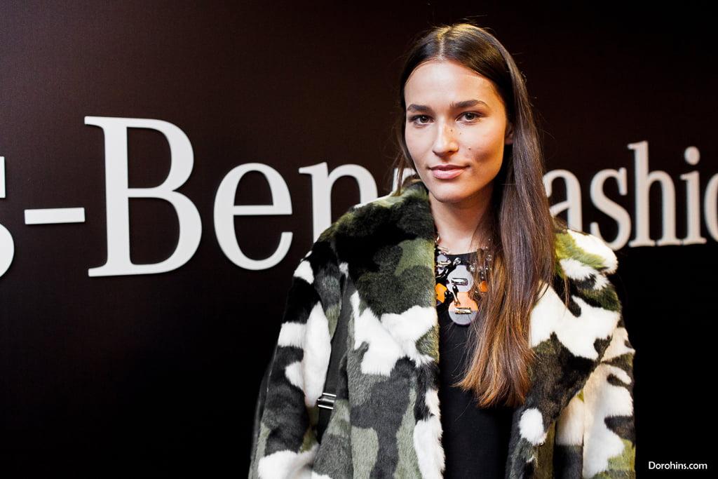 Лиза Одиноких_Mercedes-Benz Fashion Week Russia_гости 3 день_Яся Миночкина, гости показа Миночкина_показ