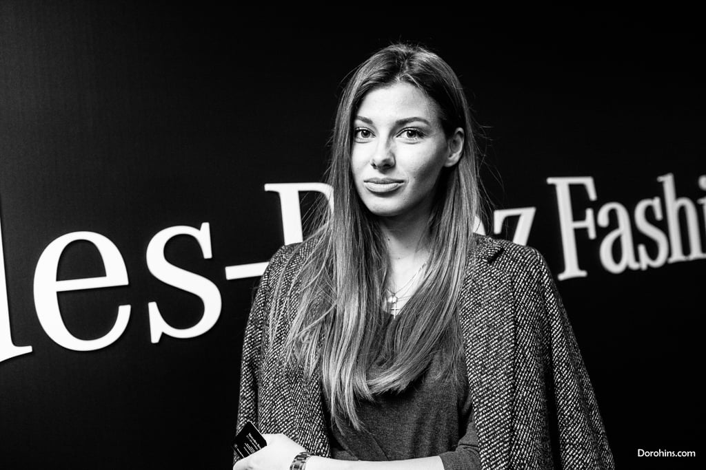 Маша Чернышенко_Mercedes-Benz Fashion Week Russia_гости 3 день_Яся Миночкина, гости показа Миночкина_показ