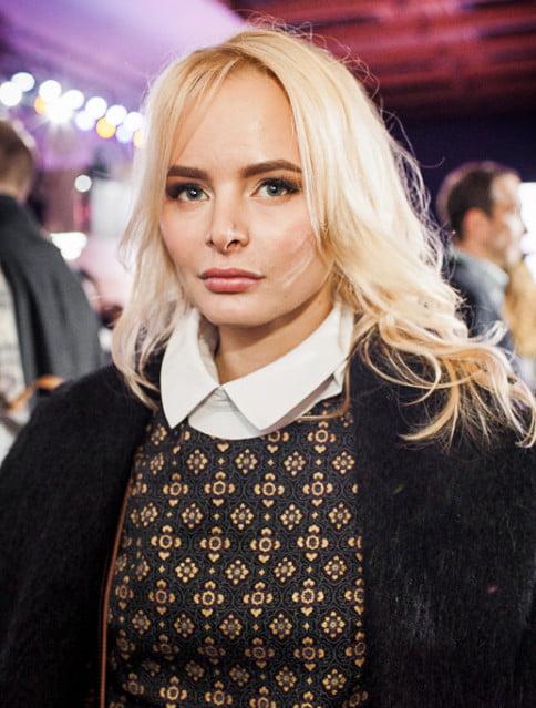 Олеся Ермакова_Mercedes-Benz Fashion Week Russia_гости 3 день_Яся Миночкина, гости показа Миночкина_показ