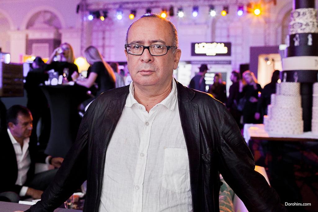 Петр Листерман_Mercedes-Benz Fashion Week Russia_гости 3 день_Яся Миночкина, гости показа Миночкина_показ