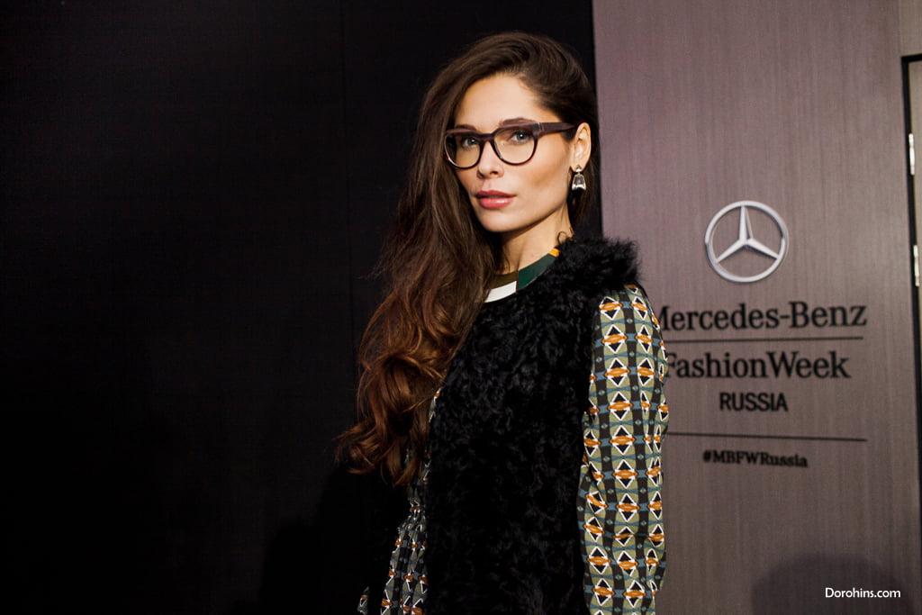 Полина Аскери_Mercedes-Benz Fashion Week Russia_гости 3 день_Яся Миночкина, гости показа Миночкина_показ