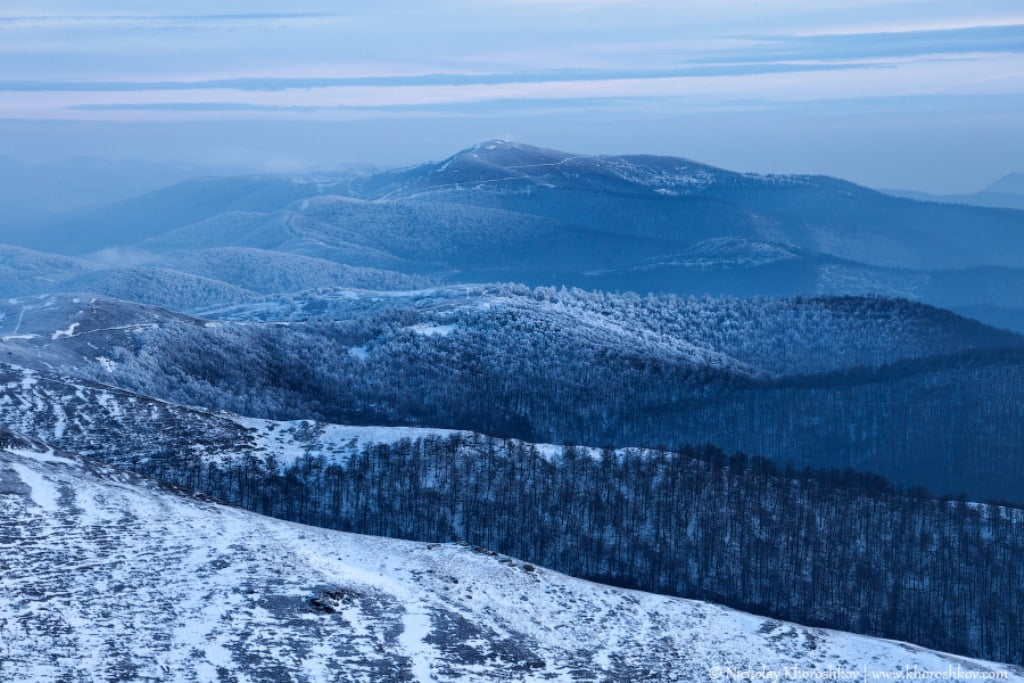 Carpathian mountains showy hills