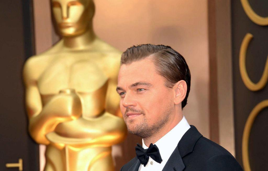 Леонардо Ди Каприо возле Оскара