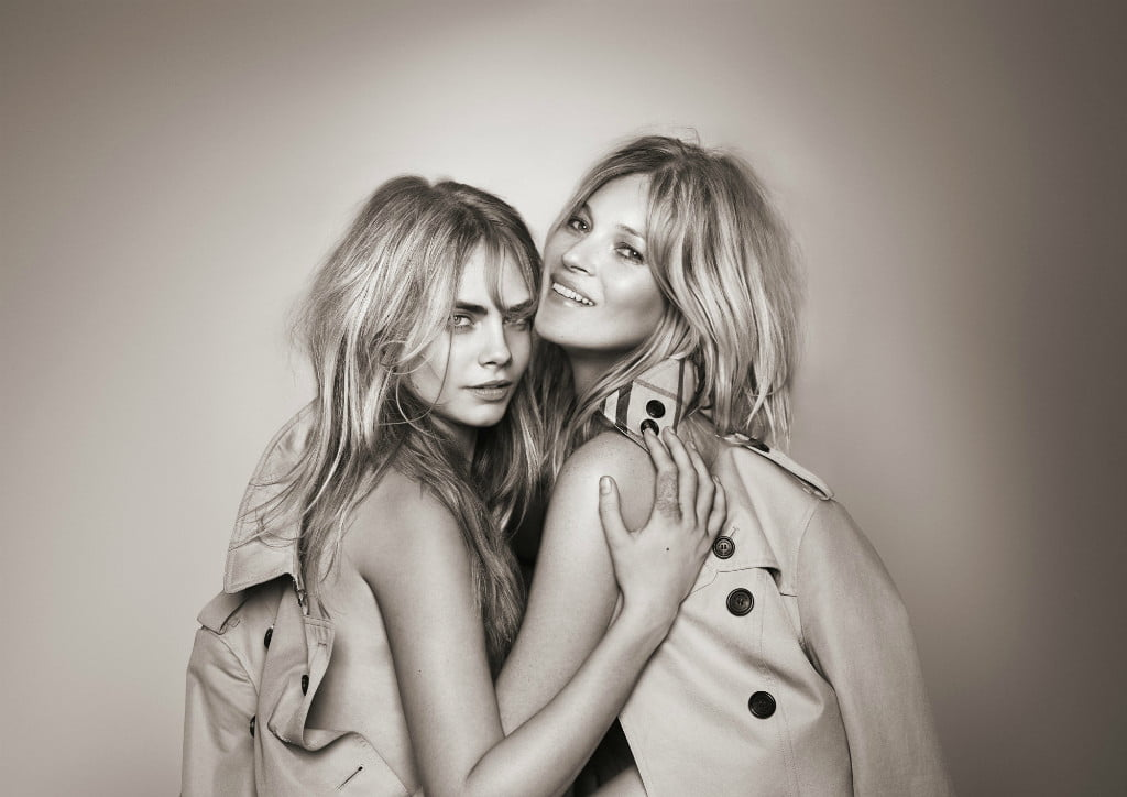Kate-Moss-And-Cara-Delevingne-For-My-Burberry