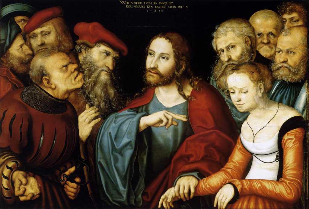 картина Христос и грешница
