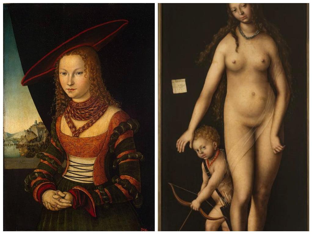картина Женский портрет_картина Венера и Амур