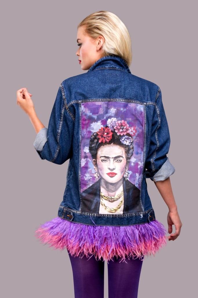 джинсы куртка с рисунком