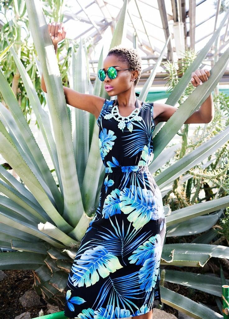 Natasha Avdeyuk_Lesya Fedorchenko_Veronika Poludnenko_Amy Grace_модель в ботаническом саду_съемка в саду_киевский ботанический сад_темнокожая модель