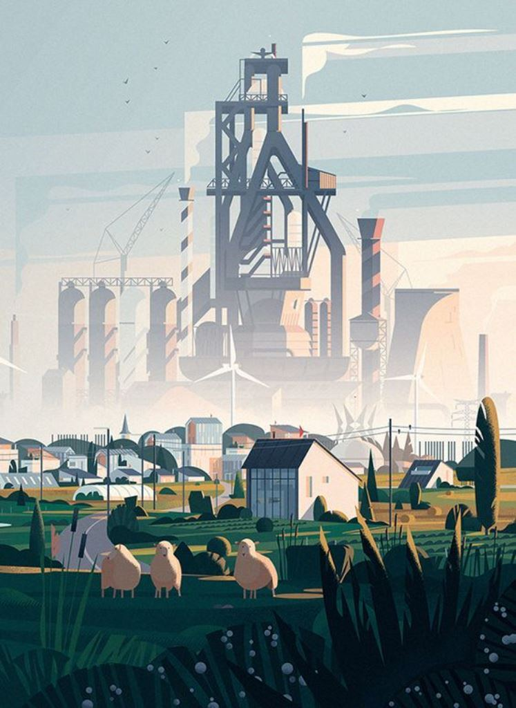Загрязнение экологии большого города